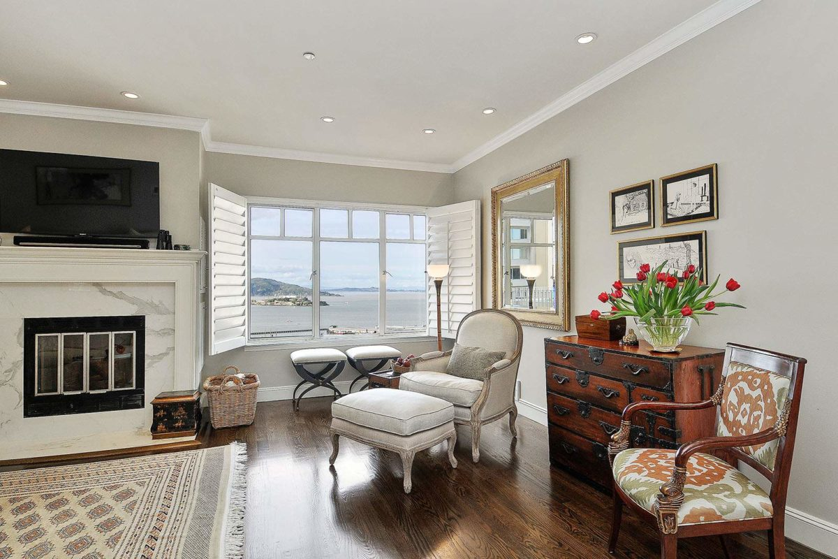 Spectacular Bay View Russian Hill Penthouse at 1150 Lombard St., #26, SF